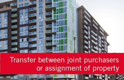 Acheteurs/Reimbursement of the purchase credit/Assignment of property