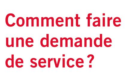 Locataires/Dde service/Service non urgent